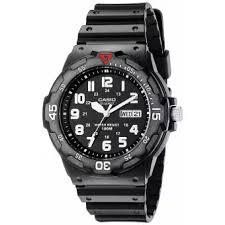 Negara Pembuat Jam Tangan Casio casio mrw 200h 1bvdf jam tangan pria hitam karet lazada indonesia