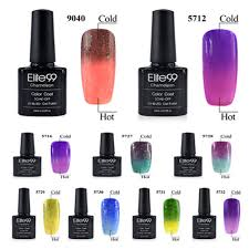 elite99 chameleon temperature change pedicure uv gel nail polish