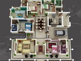 big house plans big house with colour coded rooms 4 bed 4 bath architecture