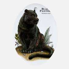 black panther ornament cafepress