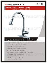 Premium Kitchen Faucets by Jandon Faucet Useful Everyday Since 2002 5137 U2022 Single Handle
