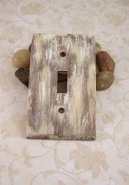 primitive single light switch plate cover brown beige farm house