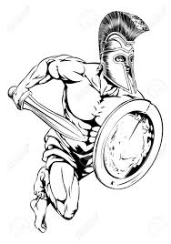 an illustration of a gladiator warrior character or sports mascot