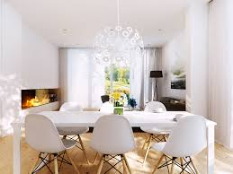 White Dining Room White Dining Area And Fireplace Inside Wall Interior Design Ideas