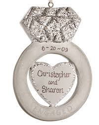 locket ornament diamond engagement ring personalized ornament