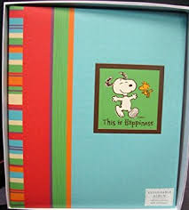 Bound Photo Albums Amazon Com Hallmark Albums Kmk3016 This Is Happiness Snoopy Large