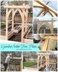 wedding arches building plans vegetable garden arbor diy plans garden arbours vegetable