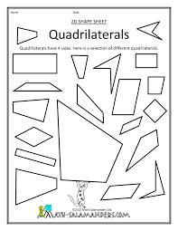 quadrilateral worksheet worksheets