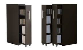brusali high cabinet with door white 80x190 cm ikea this clever compact bookcase hides its shelves behind pull out doors