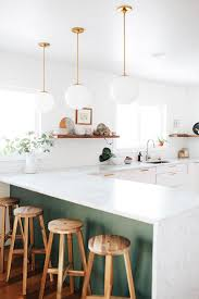 design cool modern kitchen with a peninsula marble counter top