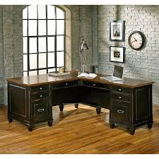 l shaped desk with hutch right return martin furniture hartford 60 pedestal l shaped desk with right