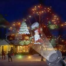 led santa claus laser light projector outdoor landscape garden
