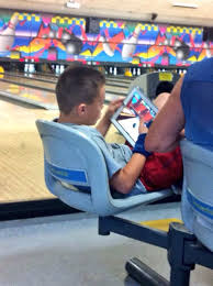 Bowling Meme - this kid is playing a bowling game at a bowling alley imgur