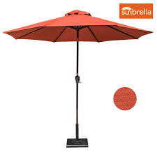 Rectangular Patio Umbrella Sunbrella by 9 Feet Outdoor Aluminum Patio Umbrella With Auto Tilt And Crank