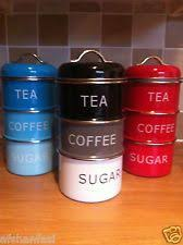 storage canisters for kitchen monochrome stack of tea coffee and sugar storage jars kitchen