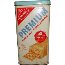 1950 s nabisco premium saltine crackers tin tag sale item