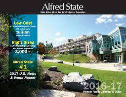 pioneer family calendar u0026 guide 2016 17 by alfred state college
