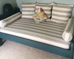 fitted daybed cover in customer fabric with cording piping