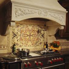 Metal Mural Athena Mosaic Tile Trends Also Kitchen Backsplash - Kitchen medallion backsplash