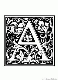 Coloriage Lettre A  coloriages Lettrine  Alphabets  10 Sets  Vol