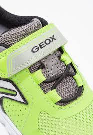 Lime Lights Shoes Geox Xunday Trainers Lime Grey Kids Shoes Classic Light Green