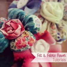 flower bow fabric and felt flowers bows