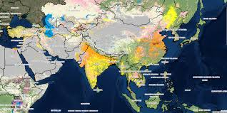 Map Of Nepal In Asia by Irrigated Africa And Asia Iwmi