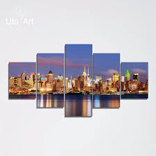 unstretched modern home decor new york city painting digital
