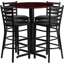 30 Inch Round Kitchen Table by Flash Furniture 30 Inch Round Mahogany Laminate Table Set With
