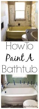 how to paint a bathtub easily inexpensively my creative days