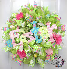 mesh wreaths how to add a sign to deco mesh wreaths