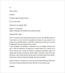 awesome cover letter examples for teacher assistant photos