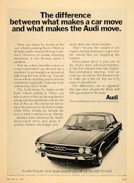 vintage porsche ad audi vintage ad u0027the difference between what makes a car move and