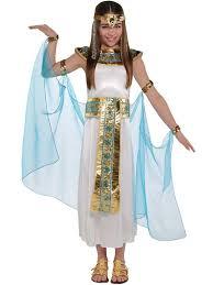 childrens kids girls queen cleopatra egyptian toga fancy dress