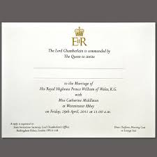 when should wedding invitations be sent prince william and kate middleton royal wedding invitations