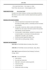 Free Traditional Resume Templates Accounting Resume Template Accountant Clerk Resume Template