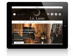 la luna restaurant web design u0026 digital marketing cardiff