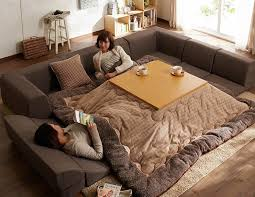 you can stay in bed with this awesome japanese kotatsu amazing
