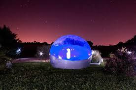bulle chambre bulle de nuit photo de les chambres bulles du château belvize