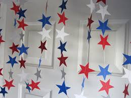 paper garland july 4th decorations bbq decoration american