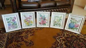 vintage shabby chic feature wall frame book art prints wild garden