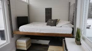 Conceptmodern Ana White U0027s Open Concept Modern Tiny House With Elevator Bed