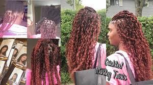 sewing marley hair curly wavy crinkled marley twists equal jamaican twist braid