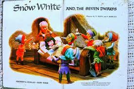snow white dwarfs puppet storybook