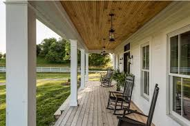 farm house porches rustic modern farmhouse covered porch with swinging chairs artenzo