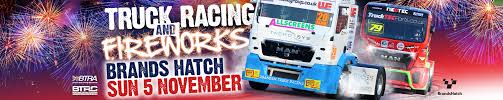 monster truck racing association brands hatch race event british truck racing and fireworks