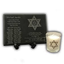 yizkor prayer in yahrzeit memorial plaque candle holder