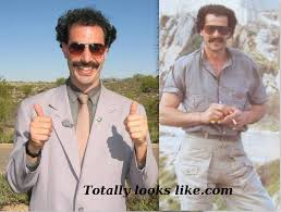 Borat Meme - i think my father looks like borat in this picture funny