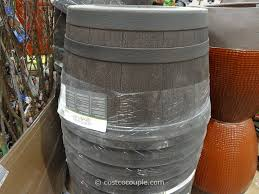 southern patio 25 inch whiskey barrel high density resin planter