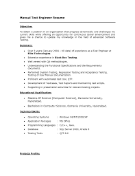 Manual Testing 1 Year Experience Resume Qa Resume Sample Game Tester Resume Free Resume Example And